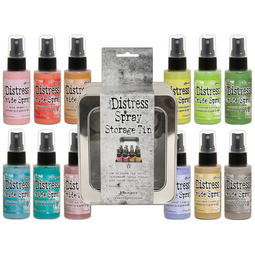 Ranger Ink - Tim Holtz - Distress Oxides Spray Kit - Bundle Two with Spray Storage Tin