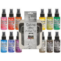 Ranger Ink - Tim Holtz - Distress Oxides Spray Kit - Bundle Three with Spray Storage Tin