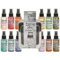 Ranger Ink - Tim Holtz - Distress Oxides Spray Kit - Bundle Four with Spray Storage Tin