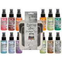 Ranger Ink - Tim Holtz - Distress Oxides Spray Kit - Bundle Five with Spray Storage Tin
