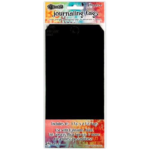 Ranger Ink - Dylusions Media - Journaling Tags - Size Number 10 - Black