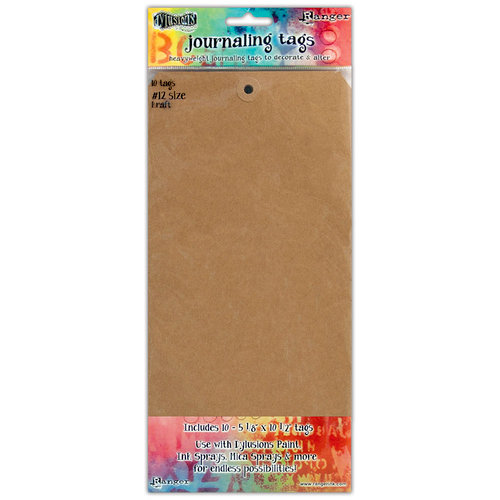 Ranger Ink - Dylusions Media - Journaling Tags - Size Number 12 - Kraft