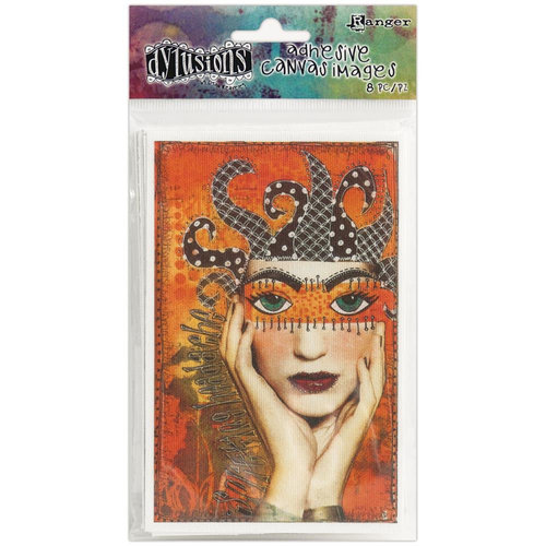 Ranger Ink - Dylusions Adhesive Canvas - Printed