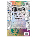 Ranger Ink - Dylusions Coloring Sheets - 5 x 8 - 2