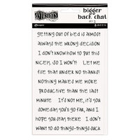 Ranger Ink - Dylusions Dyalog - Cardstock Stickers - Bigger Back Chat - Set 2 - White