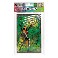 Ranger Ink - Dylusions Postcard Images - Set 3 - 8 Sheets