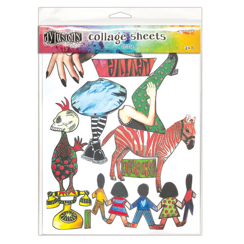 Ranger Ink - Dylusions Collage Sheets - 24 Sheets - Set 4