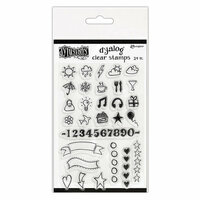 Ranger Ink - Dylusions Dyalog - Clear Acrylic Stamps - The Full Package