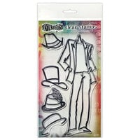 Ranger Ink - Couture Collection - Dylusions Stamps - Clear Acrylic Stamps - Man About Town