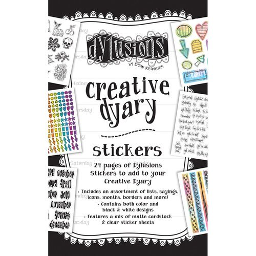 Ranger Ink - Dylusions Creative Dyary - Cardstock Sticker Book