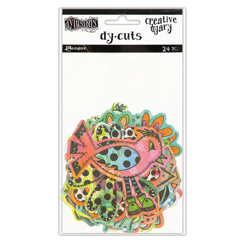Ranger Ink - Dylusions Creative Dyary - Die Cut Cardstock Pieces - 5