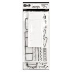 Ranger Ink - Dylusions Creative Dyary - Clear Acrylic Stamp Set - 2