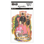 Ranger Ink - Dylusions Creative Dyary - Die Cut Cardstock Pieces - 6