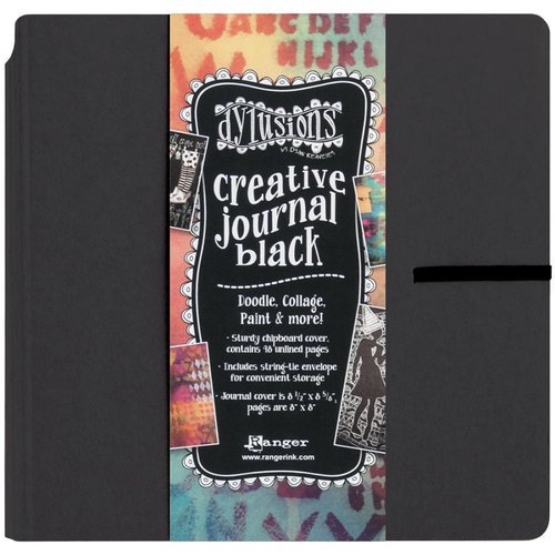 Dylusions Creative Journal - Square, Black