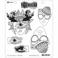 Ranger Ink - Dylusions Stamps - Unmounted Rubber Stamps - The Eyes Have It