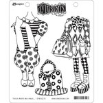 Ranger Ink - Dylusions Stamps - Unmounted Rubber Stamps - These Boots Are Made