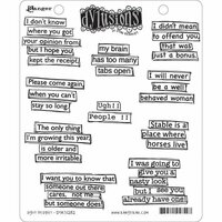Ranger Ink - Dylusions Stamps - Unmounted Rubber Stamps - Ugh People