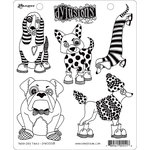 Ranger Ink - Dylusions Stamps - Unmounted Rubber Stamps - Puppy Dog Tales
