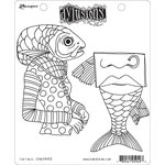 Ranger Ink - Dylusions Stamps - Unmounted Rubber Stamps - Fish Face