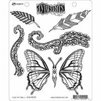 Ranger Ink - Dylusions Stamps - Unmounted Rubber Stamps - Flight of Fancy