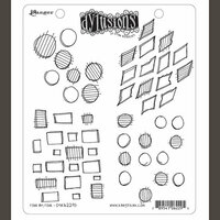 Ranger Ink - Dylusions Stamps - Unmounted Rubber Stamps - Four By Four