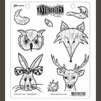 Ranger Ink - Dylusions Stamps - Unmounted Rubber Stamps - Heads N Tails