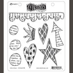 Ranger Ink - Dylusions Stamps - Unmounted Rubber Stamps - Star Struck