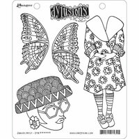 Ranger Ink - Dylusions Stamps - Unmounted Rubber Stamps - Sunday Best