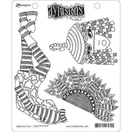 Ranger Ink - Dylusions Stamps - Unmounted Rubber Stamps - Sunshine Girl