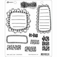 Ranger Ink - Dylusions Stamps - Unmounted Rubber Stamps - Don't, Won't, Can't