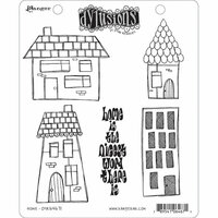 Ranger Ink - Dylusions Stamps - Unmounted Rubber Stamps - Home