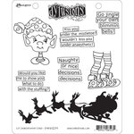 Ranger Ink - Dylusions Stamps - Christmas - Unmounted Rubber Stamps - Elf Improvement Class