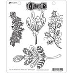 Ranger Ink - Dylusions Stamps - Christmas - Unmounted Rubber Stamps - Kiss Me Under the Mistletoe