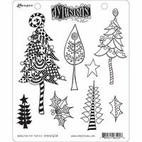 Ranger Ink - Dylusions Stamps - Christmas - Unmounted Rubber Stamps - Wood for the Trees