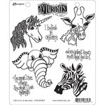 Ranger Ink - Dylusions Stamps - Cling Mounted Rubber Stamps - I Believe in Unicorns