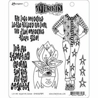 Ranger Ink - Dylusions Stamps - Cling Mounted Rubber Stamps - Let Me Adjust My Crown