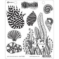 Ranger Ink - Dylusions Stamps - Unmounted Rubber Stamps - She Sells Sea Shells