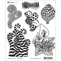 Ranger Ink - Dylusions Stamps - Unmounted Rubber Stamps - Stripy Curlicues