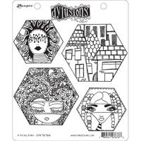 Ranger Ink - Dylusions Stamps - Unmounted Rubber Stamps - A Head Start