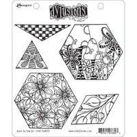 Ranger Ink - Dylusions Stamps - Unmounted Rubber Stamps - Quilt As You Go