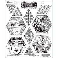 Ranger Ink - Dylusions Stamps - Unmounted Rubber Stamps - Quiltalicious