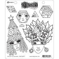 Ranger Ink - Dylusions Stamps - Unmounted Rubber Stamps - Hats Off To Christmas