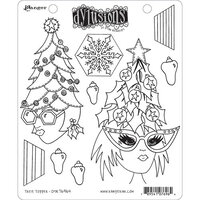 Ranger Ink - Christmas - Dylusions Stamps - Unmounted Rubber Stamps - Tree Topper