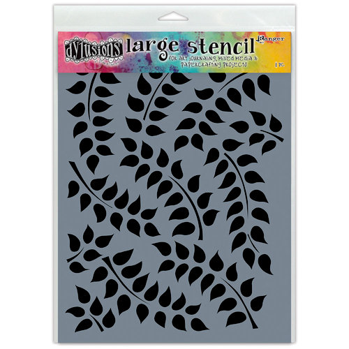 Ranger Ink - Dylusions Stencils - Fronds Of Foliage - Large