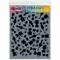 Ranger Ink - Dylusions Stencils - It's Raining Cats - Large