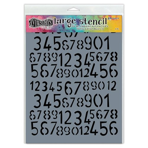 Ranger Ink - Dylusions Stencils - Old School Number - Large