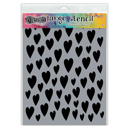 Ranger Ink - Dylusions Stencils - Love Hearts - Large