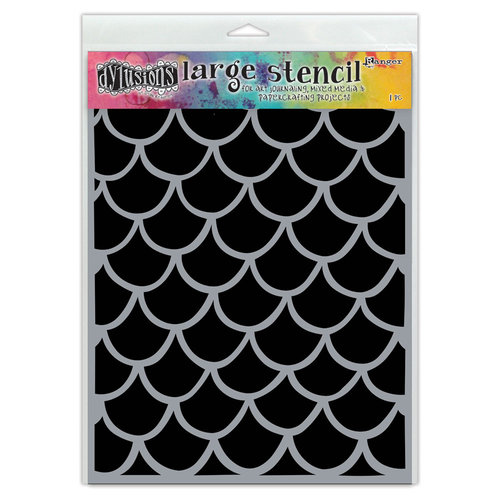 Ranger Ink - Dylusions Stencils - Fishtails - Large