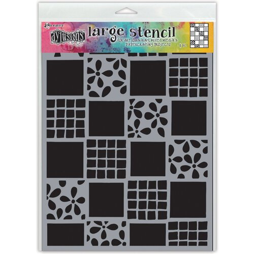 Ranger Ink - Dylusions Stencils - Large - Square Dance
