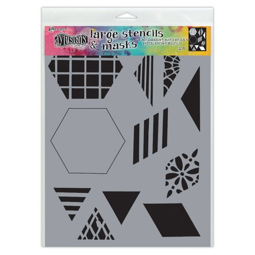 Ranger Ink - Dylusions Stencils - Large - 2 Inch Quilt